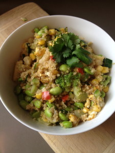 "Vegetable Quinoa ""Fried Rice"""