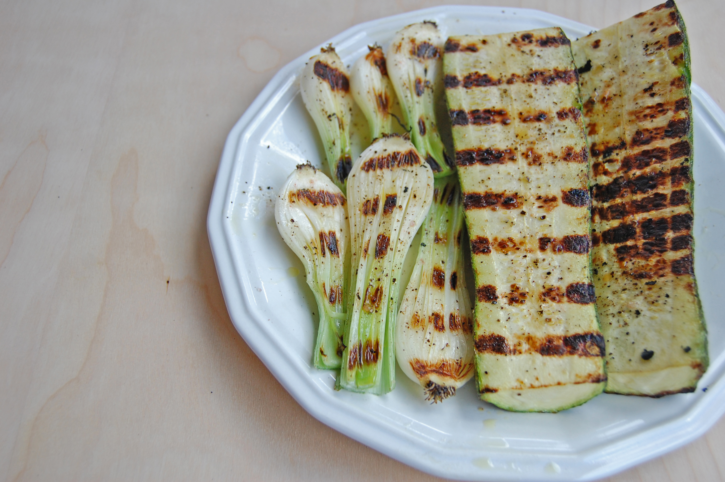 Grilled Zucchini and Leek Salad 5