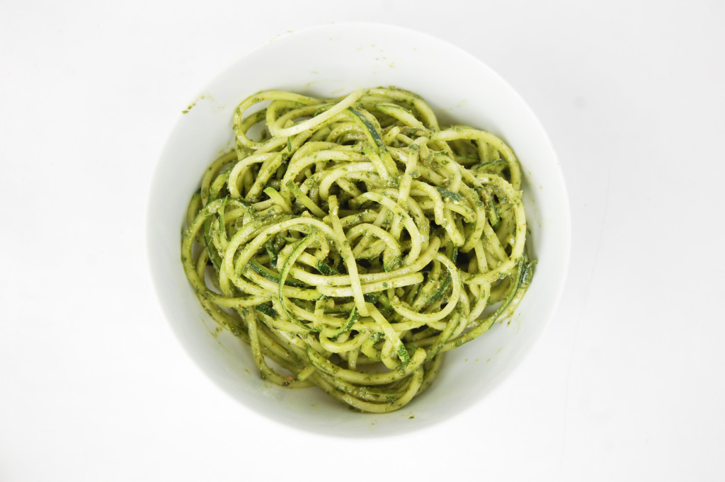 Herb Pesto Zoodles | AreYouKitchenMe.com