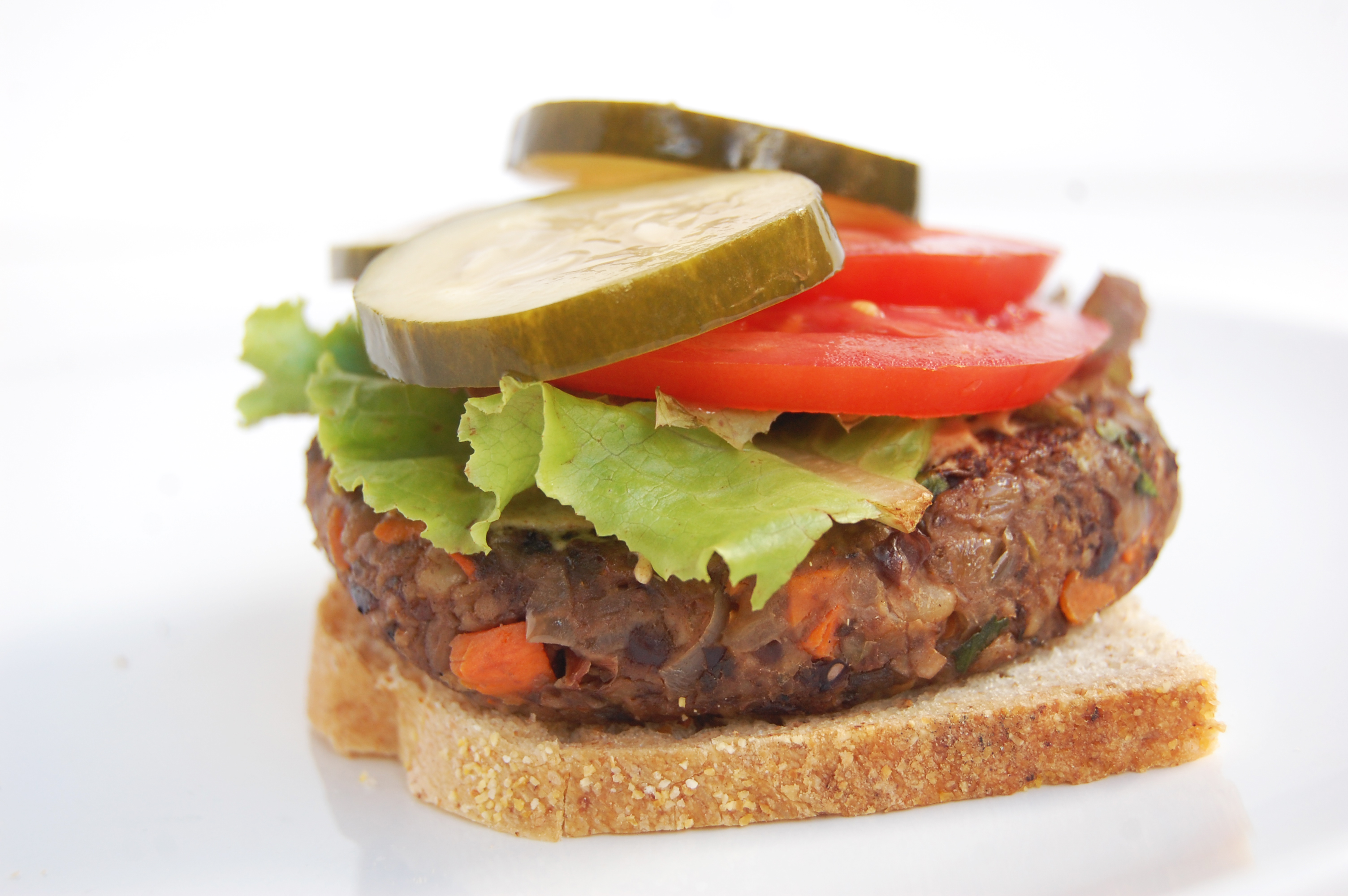 Mushroom Veggie Burger | AreYouKitchenMe.com