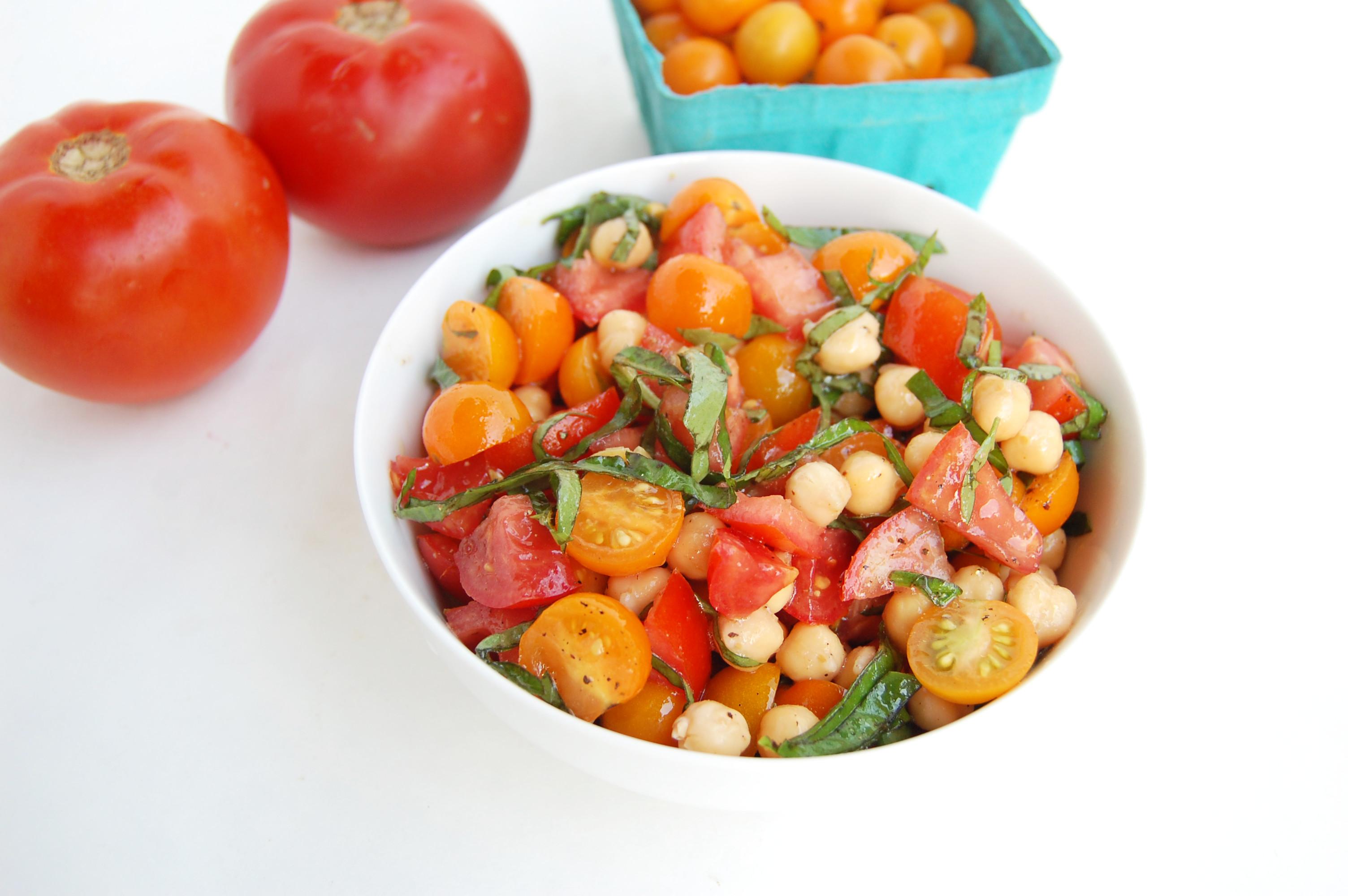 Tomato Chickpea Caprese