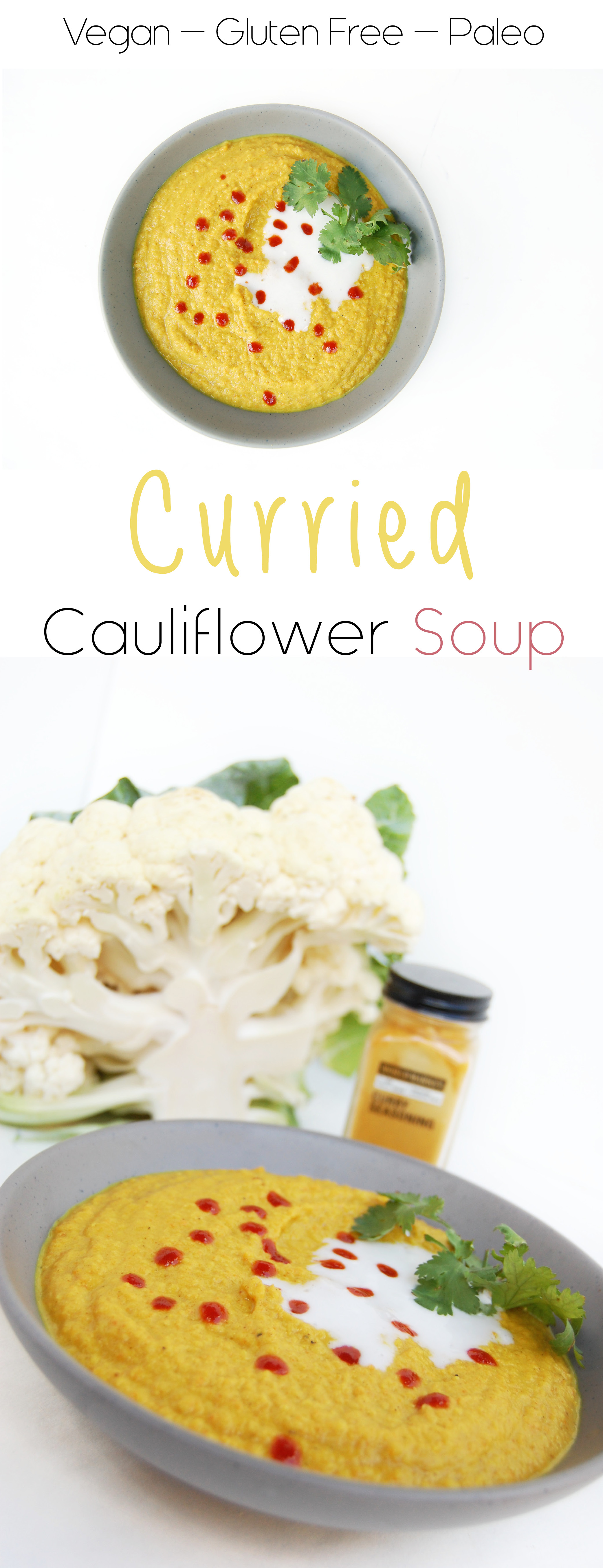 Curried Cauliflower Soup | AreYouKitchenMe.com