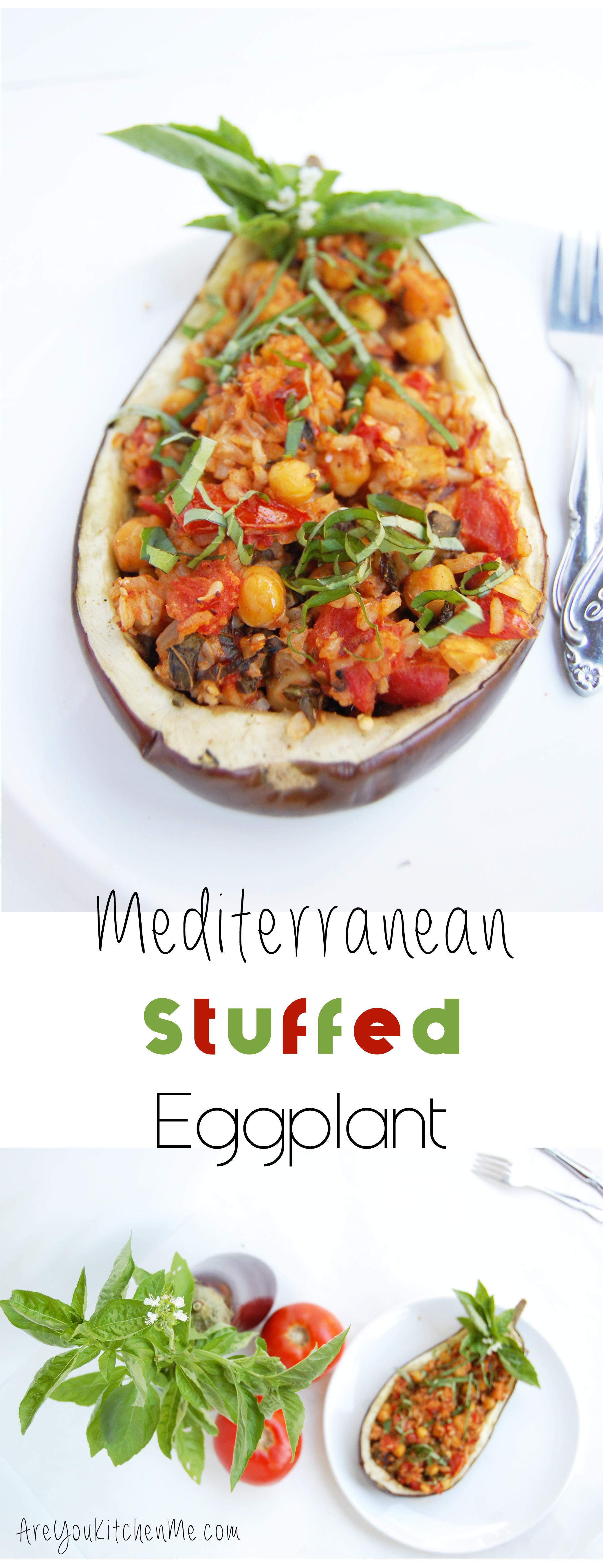 Mediterranean Stuffed Eggplant | AreYouKitchenMe.com