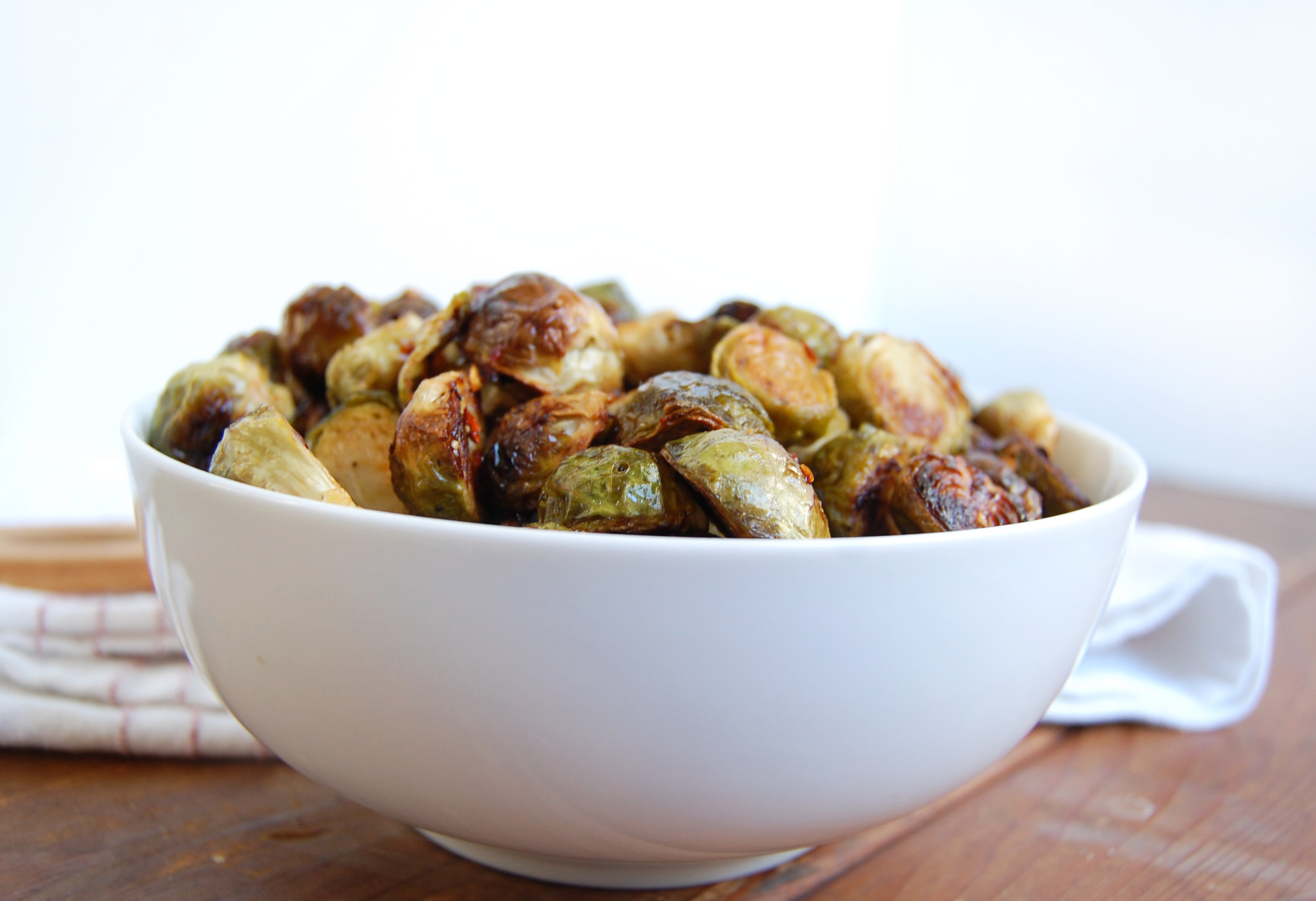Sweet & Spicy Brussels Sprouts | AreYouKitchenMe.com