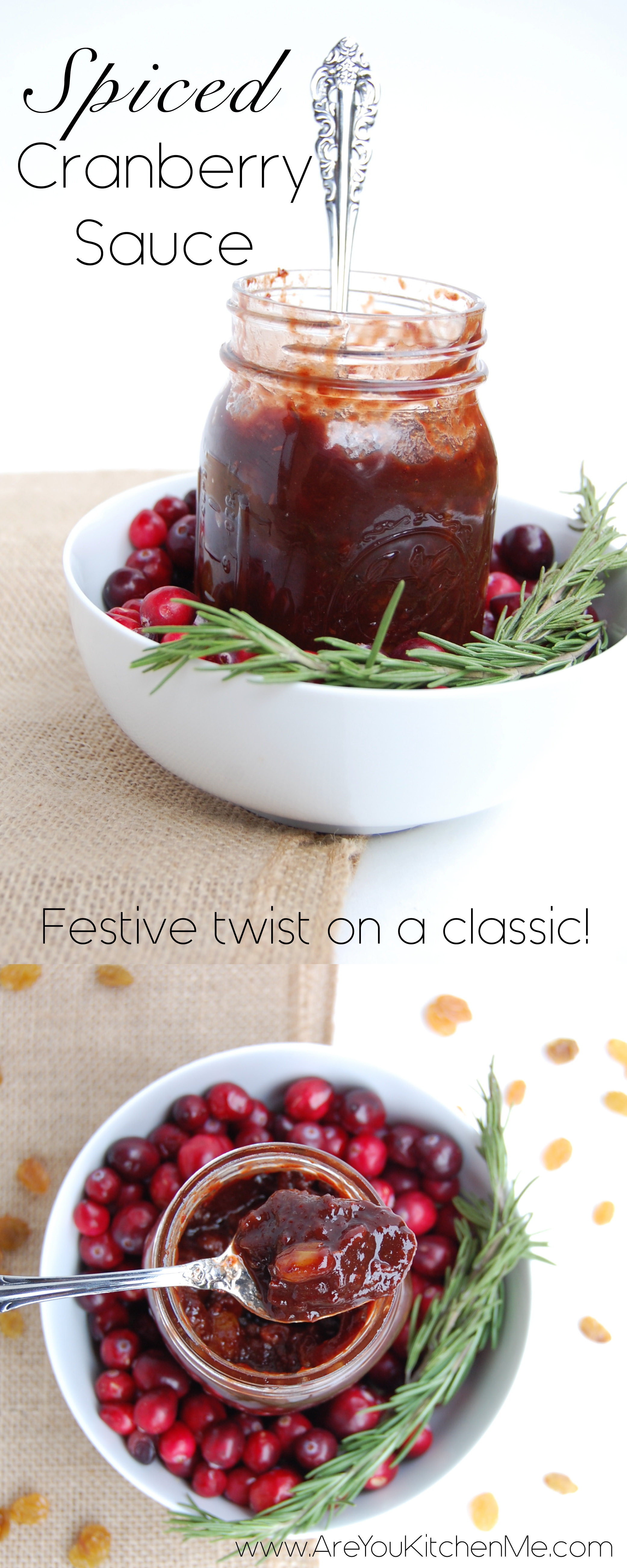 Spiced Cranberry Sauce | AreYouKitchenMe.com