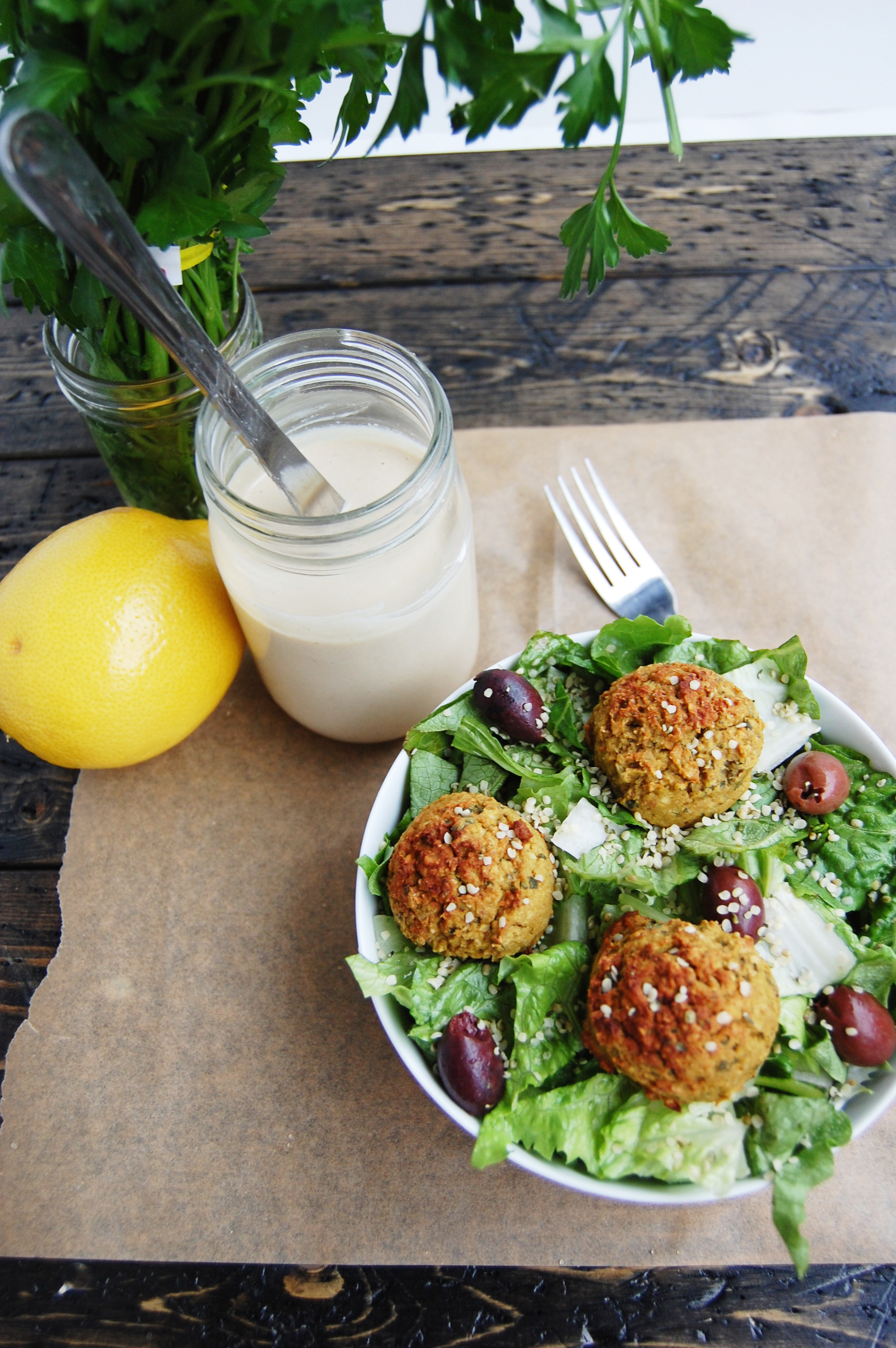 Falafel with Lemon Tahini Sauce | AreYouKitchenMe.com
