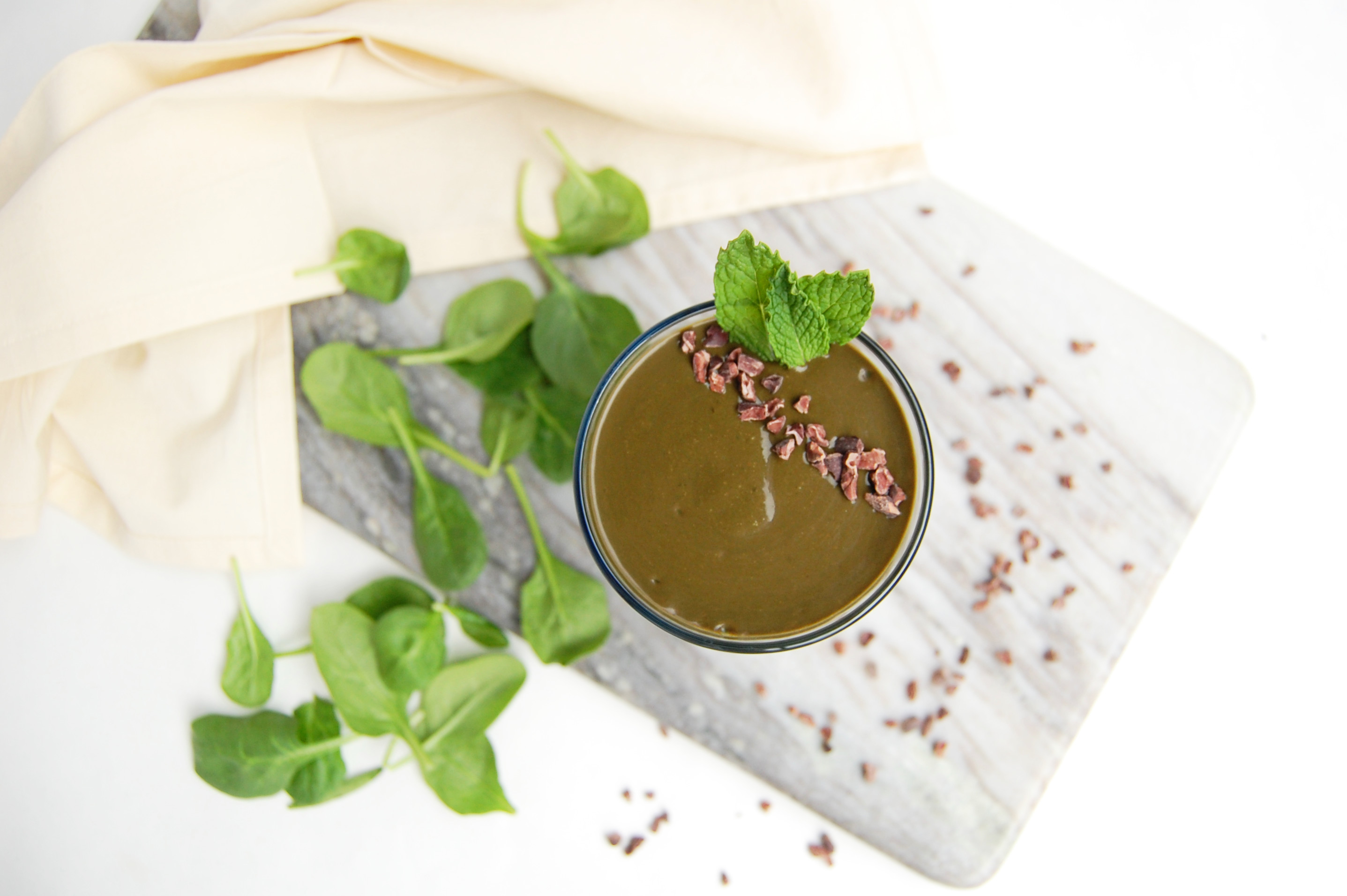 Mint Chocolate Green Smoothie - Are You Kitchen Me?!
