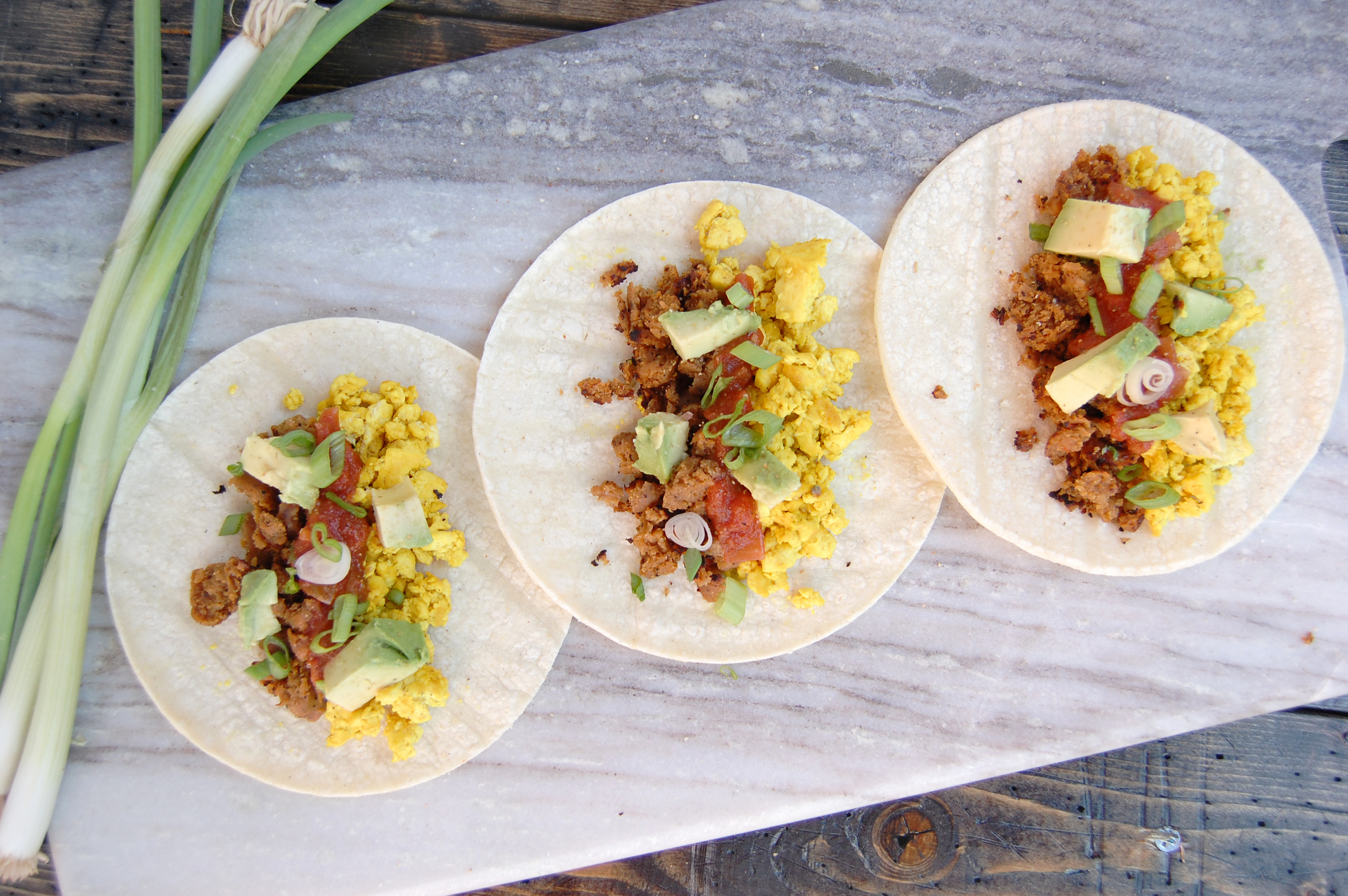 Tofu Scramble Breakfast Tacos | AreYouKitchenMe.com