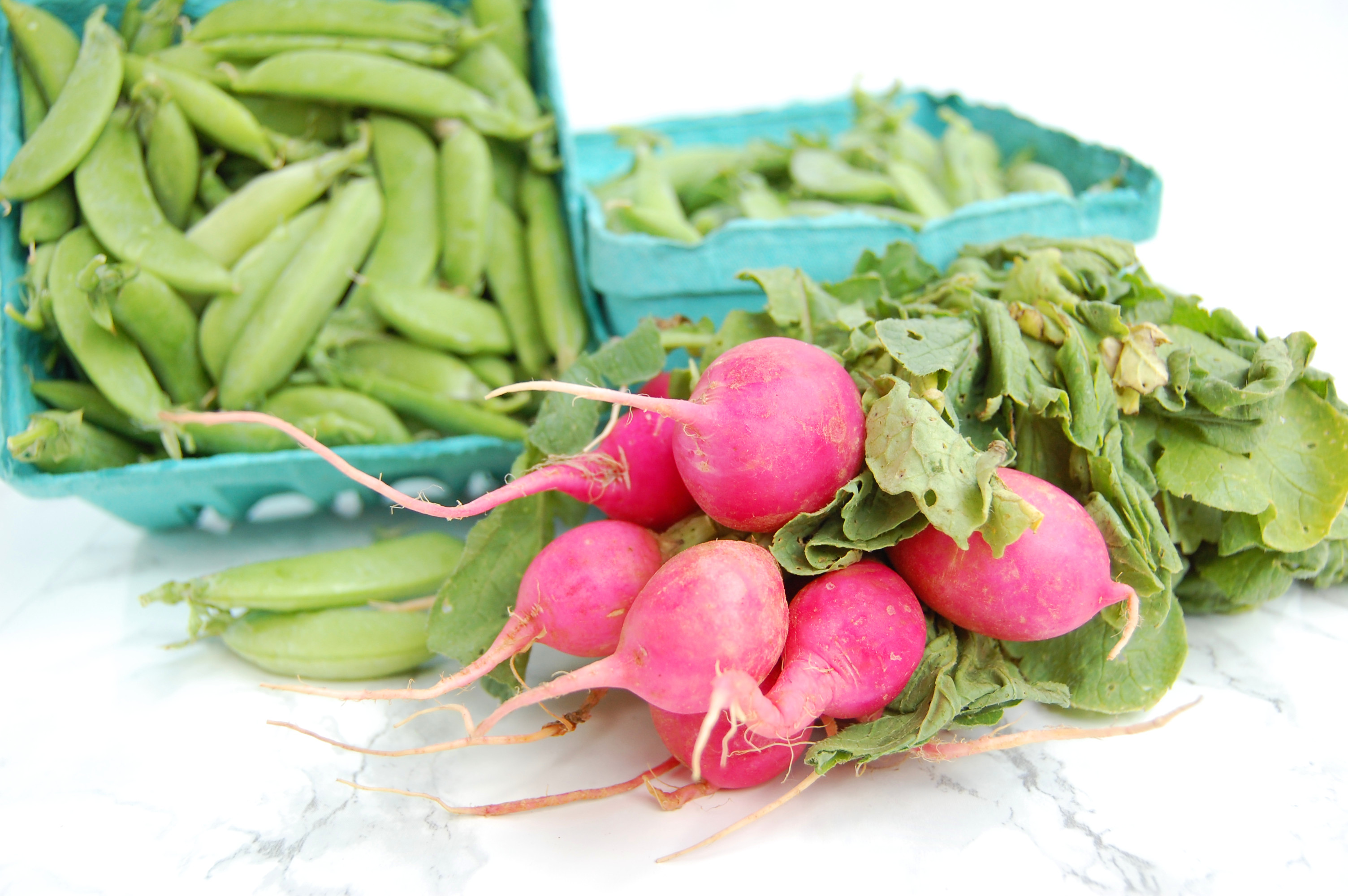 Mustard Snap Peas and Radishes   AreYouKitchenMe.com