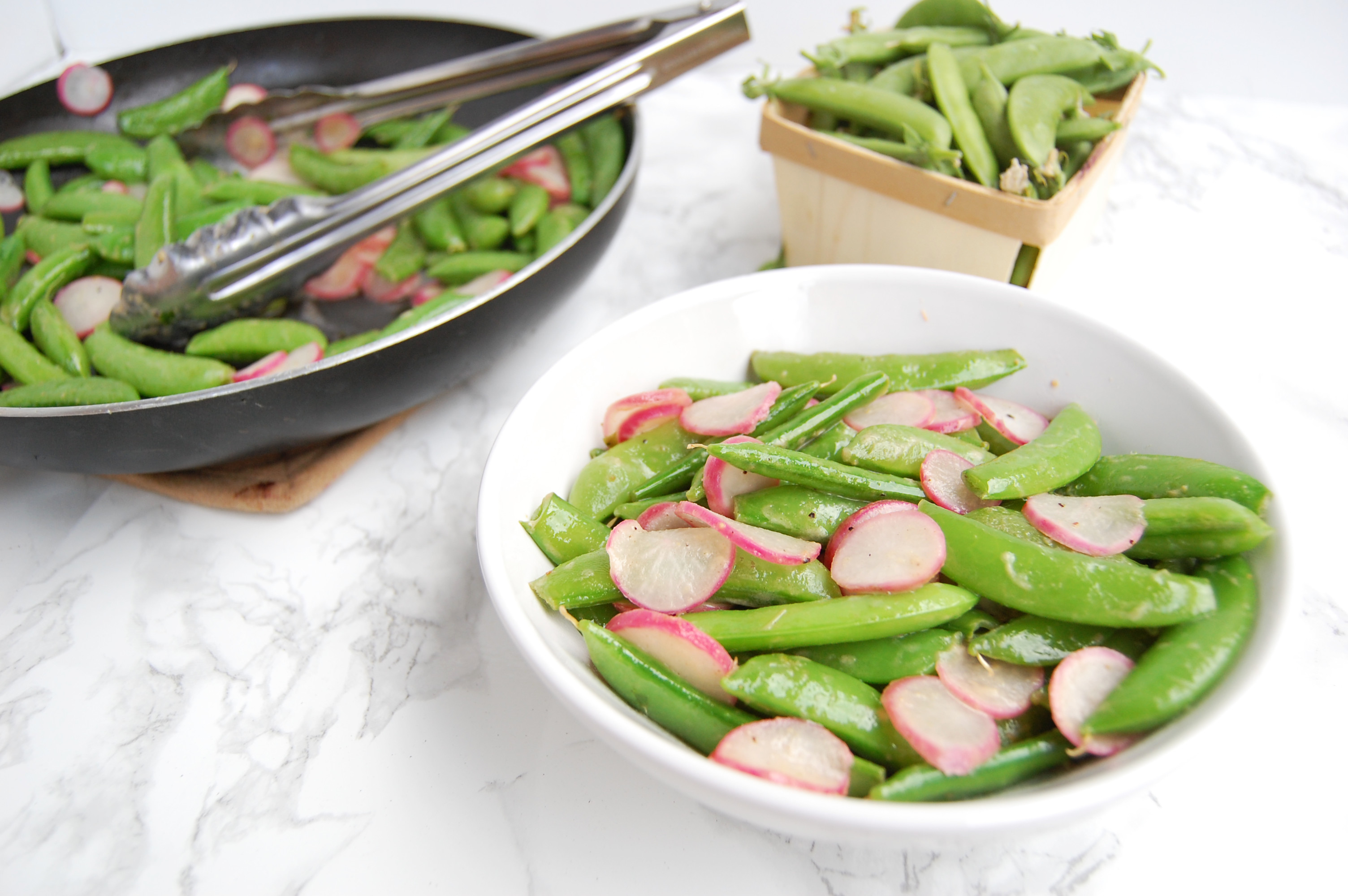 Mustard Snap Peas and Radishes | AreYouKitchenMe.com