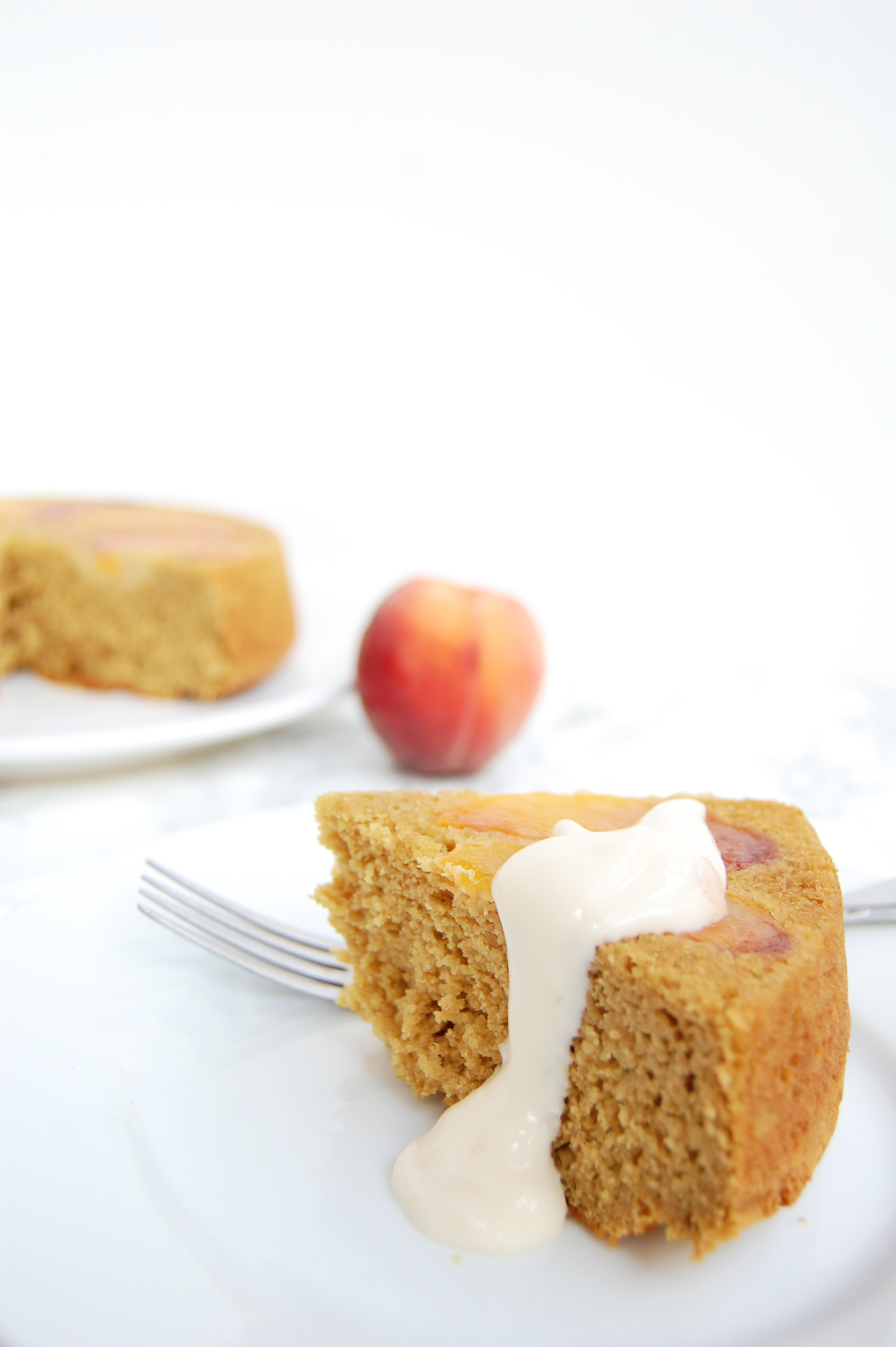Peach Upside Down Cake | AreYouKitchenMe.com