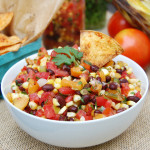 Grilled Corn and Black Bean Salsa | AreYouKitchenMe.com