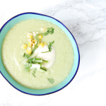 Chilled Cucumber Avocado Soup | AreYouKitchenMe.com