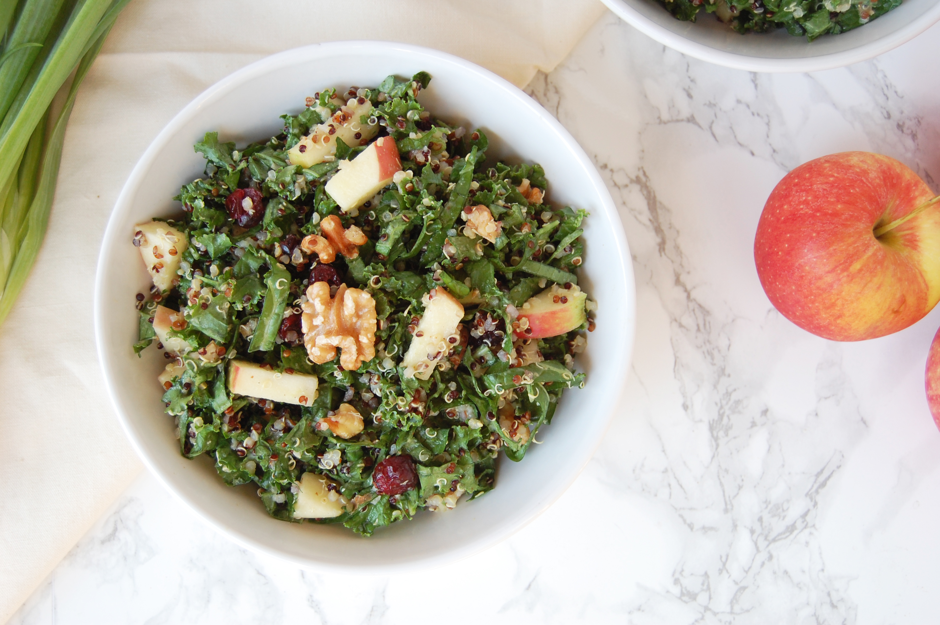 Apple Quinoa Fall Salad | AreYouKitchenMe.com