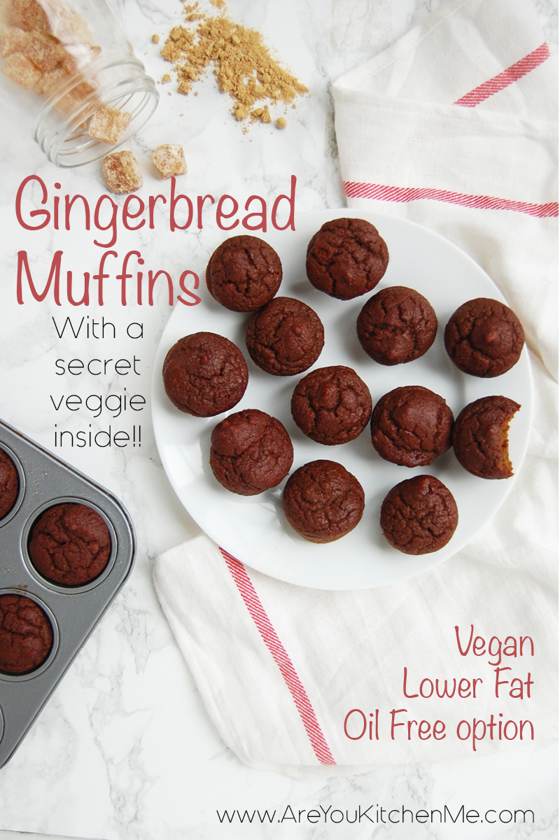 Gingerbread Mini Muffins | AreYouKitchenMe.com