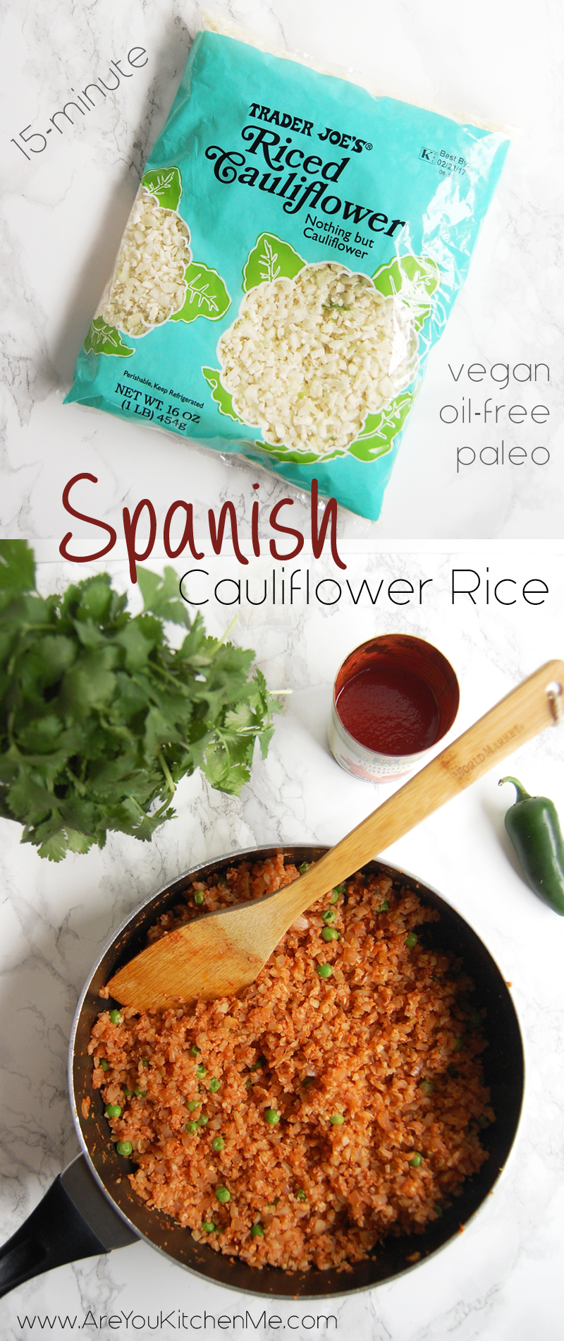 Spanish Cauliflower Rice | AreYouKitchenMe.com