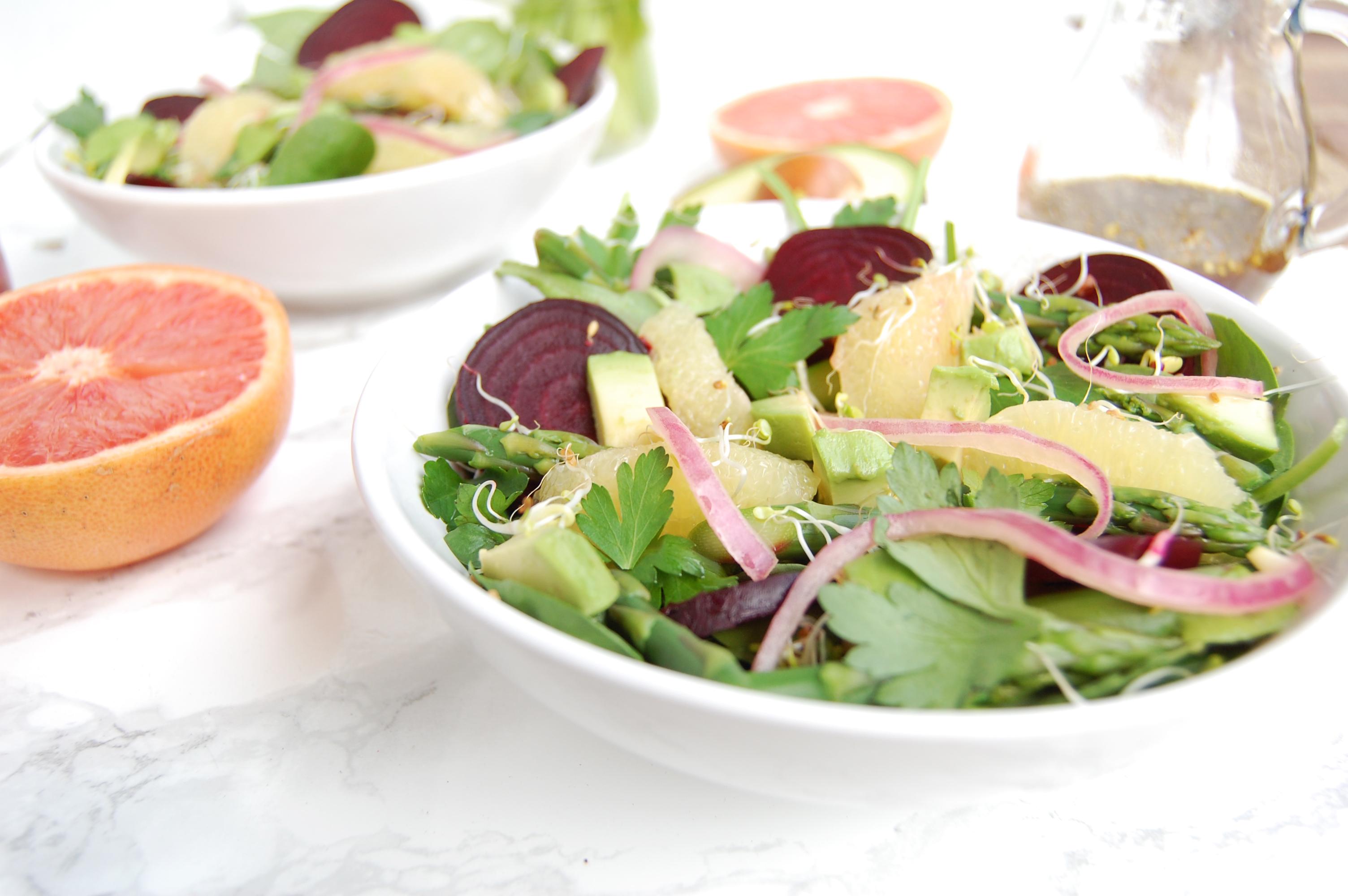 Beet, Asparagus, & Grapefruit Salad | AreYouKitchenMe.com