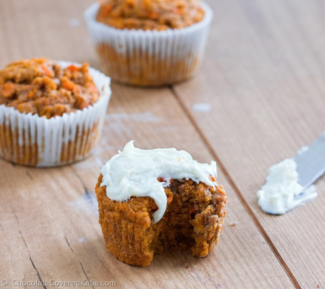 Healthy Carrot Cupcakes- Vegan Spring Recipes | AreYouKitchenMe.com