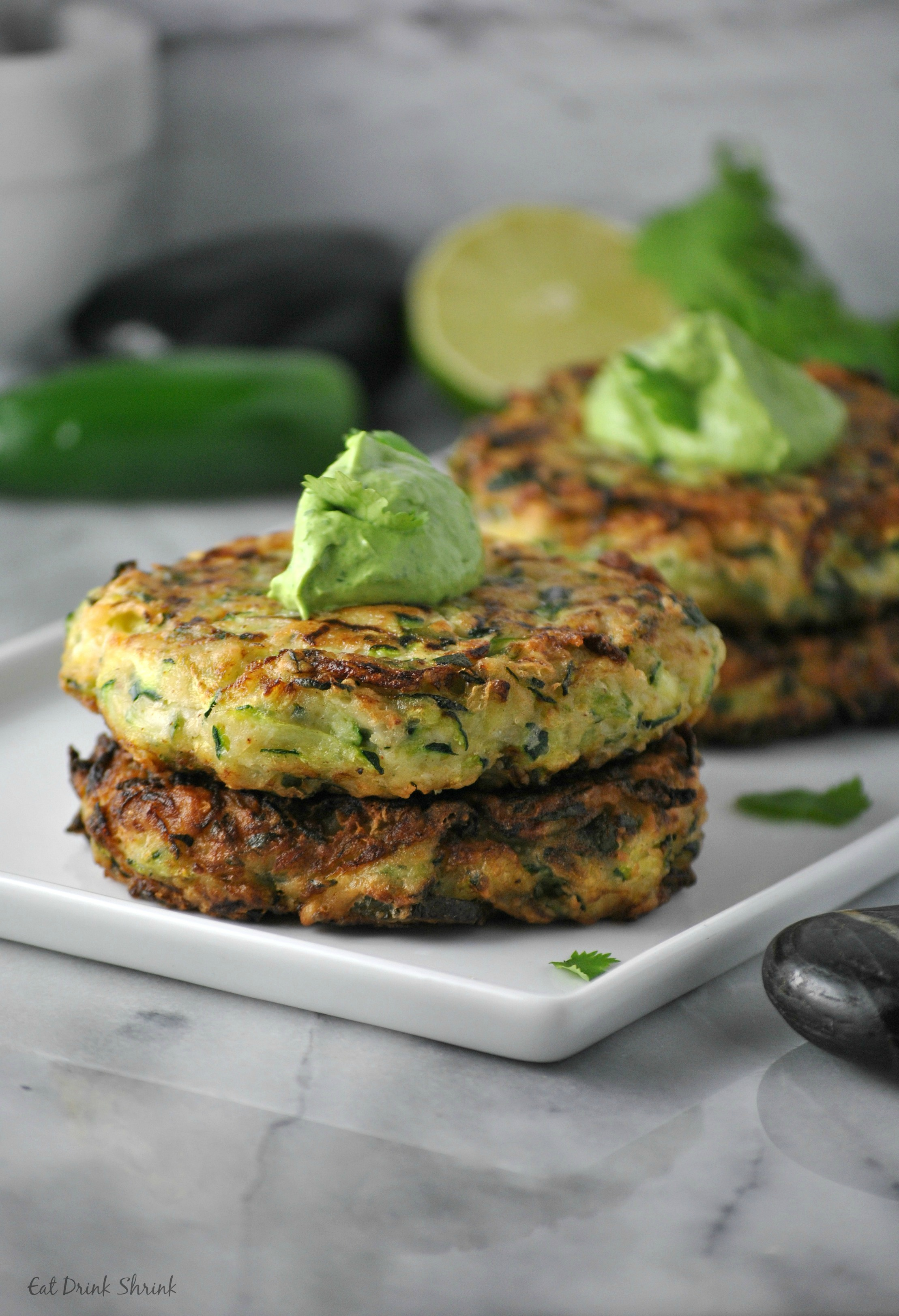 Jalepeno Zucchini Fritters - Vegan Spring Recipes | AreYouKitchenMe.com