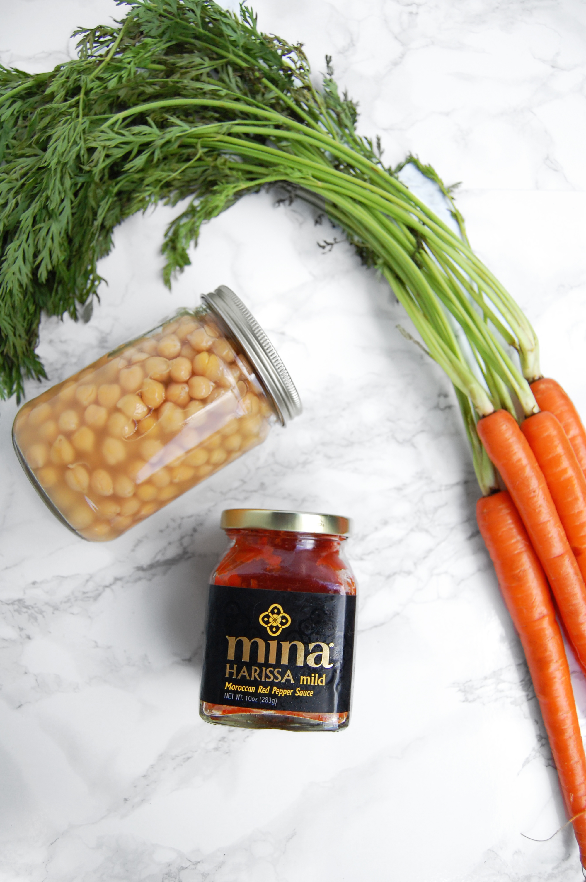 Roasted Carrot Harissa Hummus | AreYouKitchenMe.com