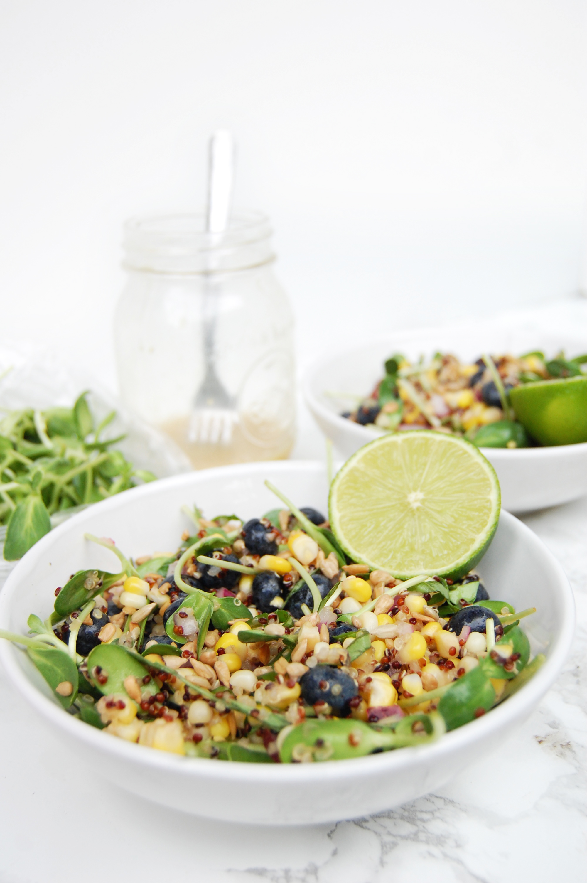 Blueberry Corn Summer Salad | AreYouKitchenMe.com