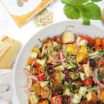 Hemp Panzanella Salad | AreYouKitchenMe.com
