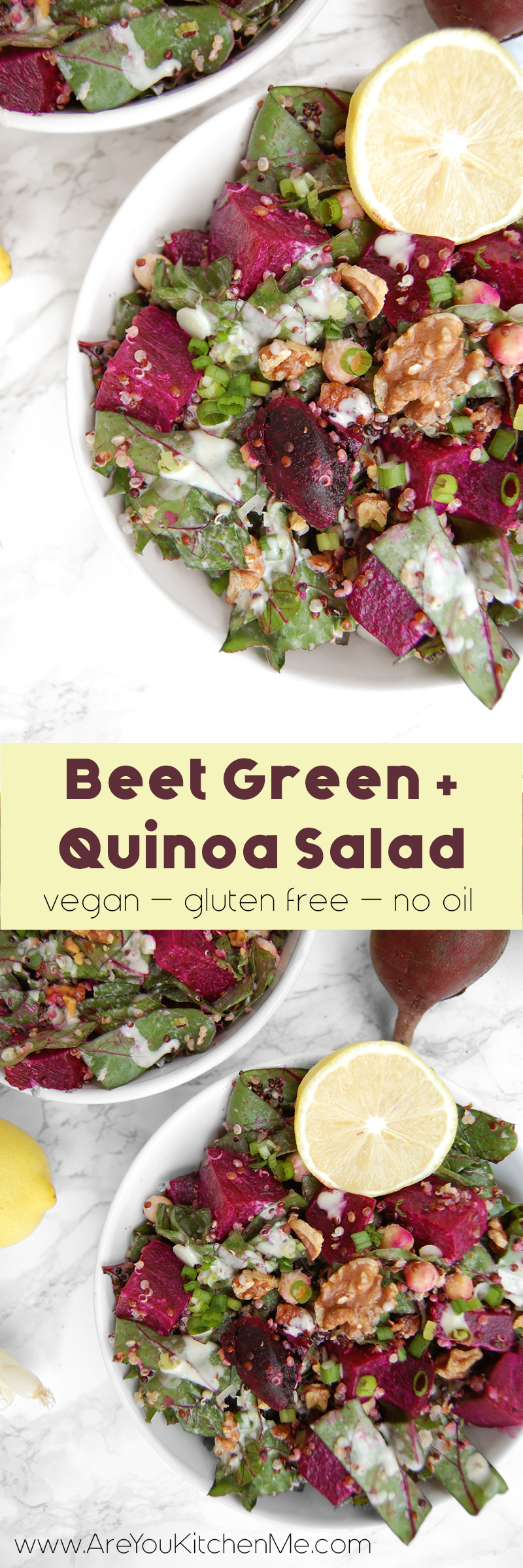 Beet Green & Quinoa Salad | AreYouKitchenMe.com