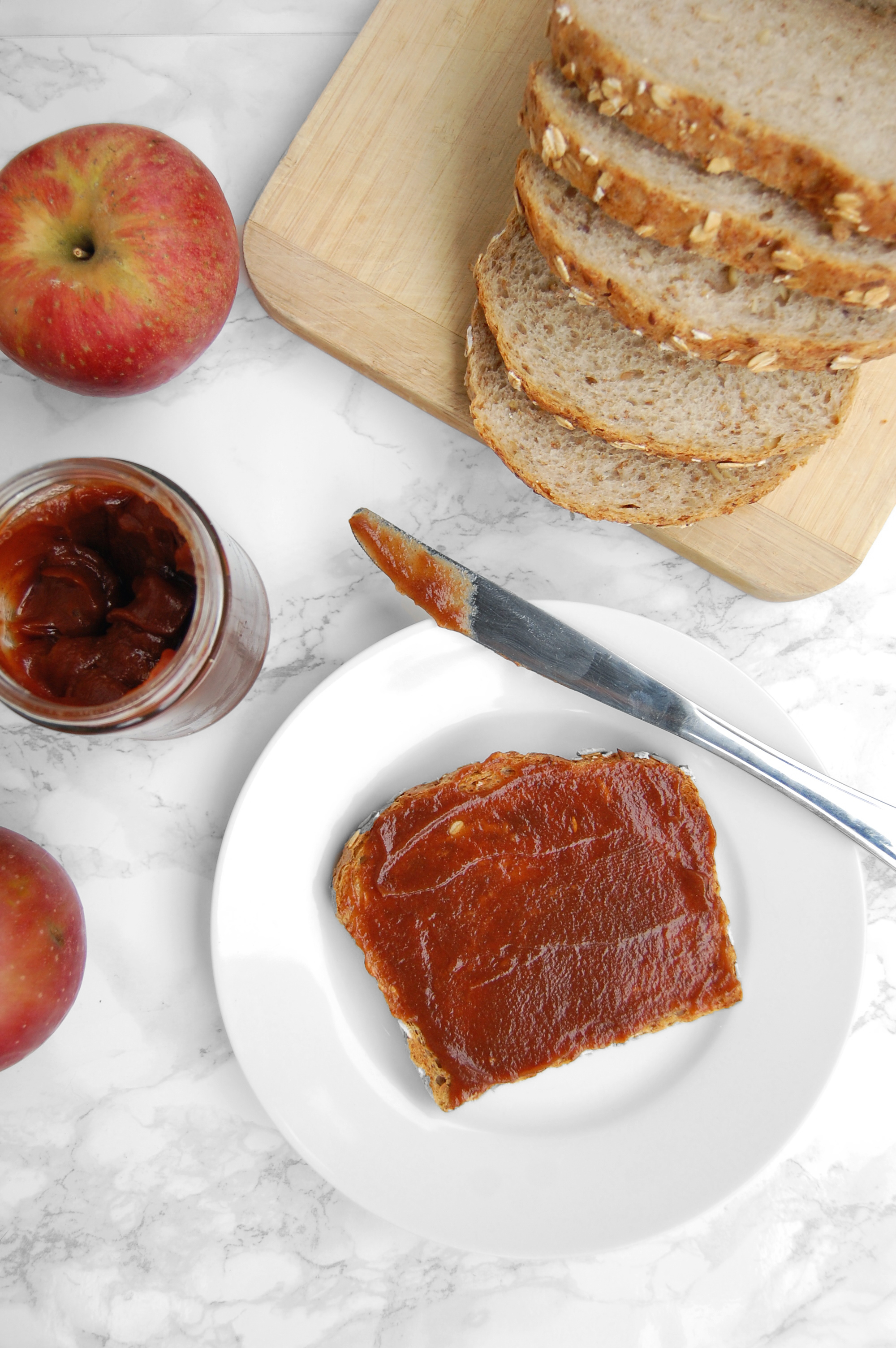 3-Ingredient Slow Cooker Apple Butter | AreYouKitchenMe.com