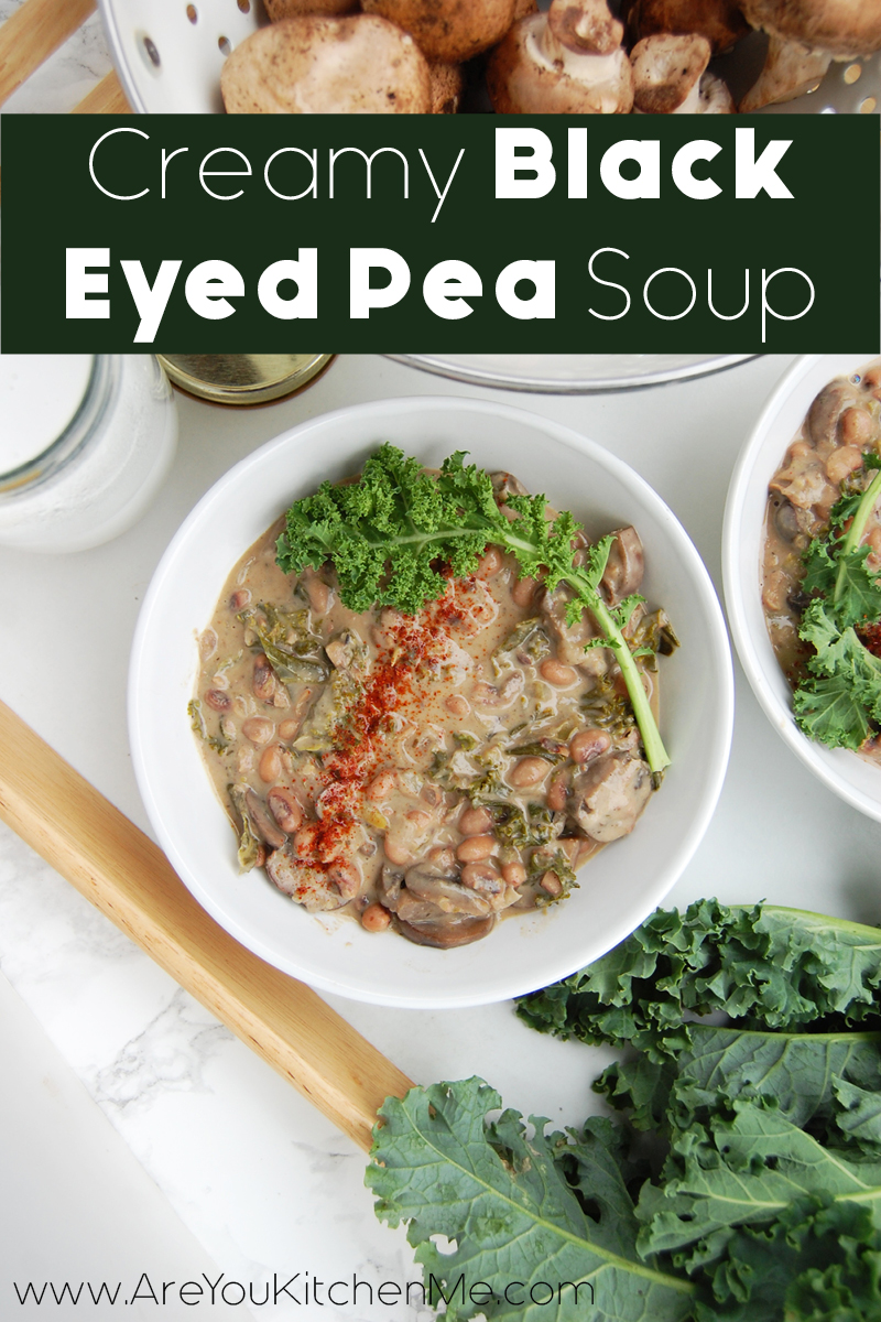 Creamy Black Eyed Pea Soup | www.AreYouKitchenMe.com