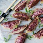 Cabbage + Beet Potstickers | AreYouKitcheneMe.com