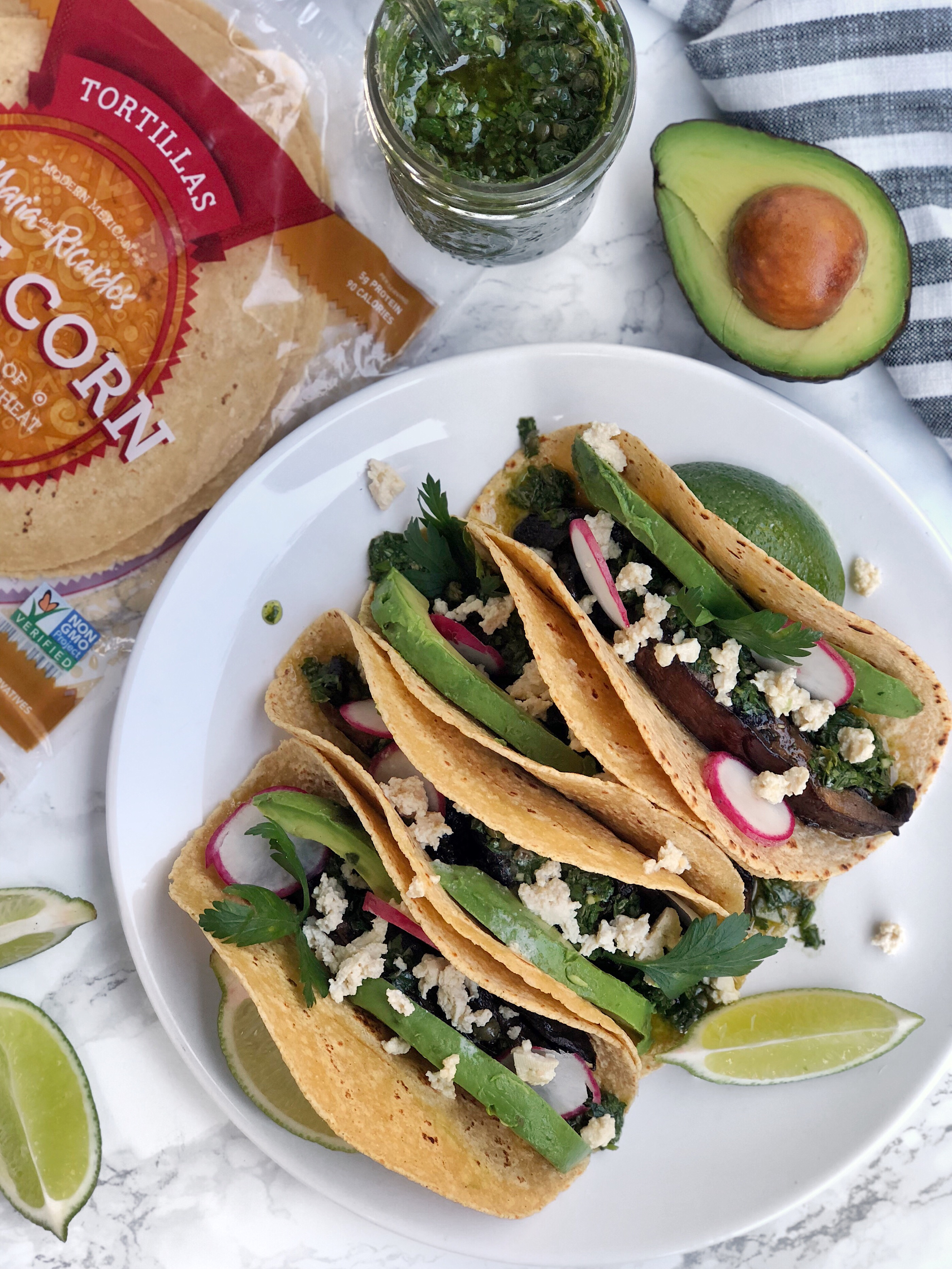 Roasted Portobello Tacos | AreYouKitchenMe.com